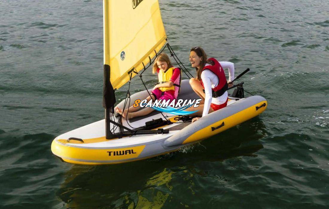 Премьера надувной лодки с парусом Tiwal 2 на бот-шоу в Париже